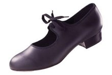 Tap Shoes with heel and toe taps fitted  Black only. Size 1 only