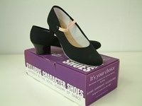 SALE - Katz Canvas Character Shoe Cuban Heel, selected sizes only