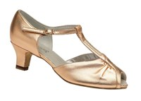 T0PAZ Ladies Dance Steps Ballroom shoes Gold
