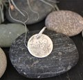 Etched Textured Pendant- small