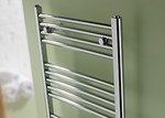 Space Bow Chrome Towel Radiator by MHS Electric Only