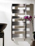 Zehnder Cove Stainless Steel COVE Towel Rail Bathroom Radiators Dual Fuel