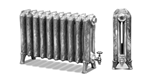 Ribbon 650 2 Column Period Radiator in Full Polish by Carron Radiators at Jig