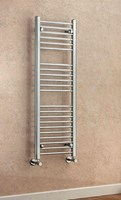 Cheshire Radiators Tarvin 1200mm Height Straight Chrome Cross Tube Towel Rail