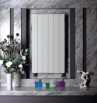 Bisque Decorative Panel DVL180-28 Vertical Radiator in White