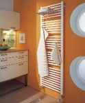 The basic straight or curved ladder style towel radiator by Kermi.