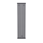 Bisque Tetro 148/178 Vertical Aluminium Radiator with a Bismuth Finish