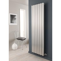 The Radiator Company Reno Horizontal Aluminium 75mm Tubular Radiator in an Anodised Finish