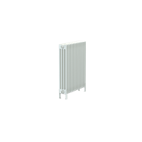 Bisque Classic 4F-75 Horizontal Multi Column Floor Radiator in White