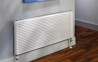 The Radiator Company Trim Double Designer Horizontal Radiator in White