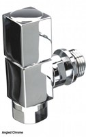 The Radiator Company Mini Cube Angled Radiator Valve