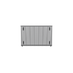 Bisque Crea-Therm CV60-57 Horizontal Radiator with Aluminium Finish (Single Tubes)