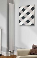 The Radiator Company Water Lily Double Vertical Designer Radiator in White