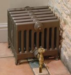Victorian 330 9 Column Period Cast Iron Radiator in Antique/Highlighted br Carron Radiators at Jig
