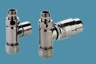 Bisque Straight Thermostatic Valve Set J in Nickel Nero