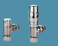 Bisque Angled Thermostatic Valve Set K in Nickel Nero