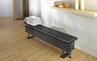 Ancona Steel Bench Seat in Colour by The Radiator Company