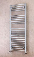 Cheshire Radiators Madeley Curved Chrome Cross Tube Towel Rail