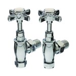 Cheshire Radiators Croco Angled Chrome Classic Crosshead Manual Valve