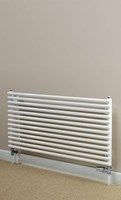 Cheshire Radiators Malpas Single Horizontal Round Tube Steel Radiator in white