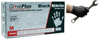 Black Nitrile Rubber Gloves - Box 100 Size Extra Large