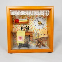 Miniature Dollhouse with Clock