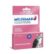 Milbemax Wormer Cats Under 4.4lbs (2kg) - 2 Tablets