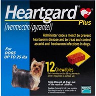 Heartgard Chewables Plus Blue Dogs Under 25 lbs (11 kg) - 12 Chewables