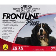 Frontline Plus XL Dogs 88-132lbs (40-60kg) - 3 Pipettes