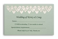 RSVP Card Hearts - Spearmint Lust