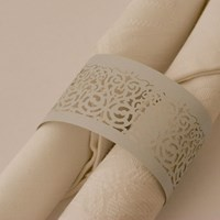 Napkin Ring Victorian Lace - Ice Blue Lust.