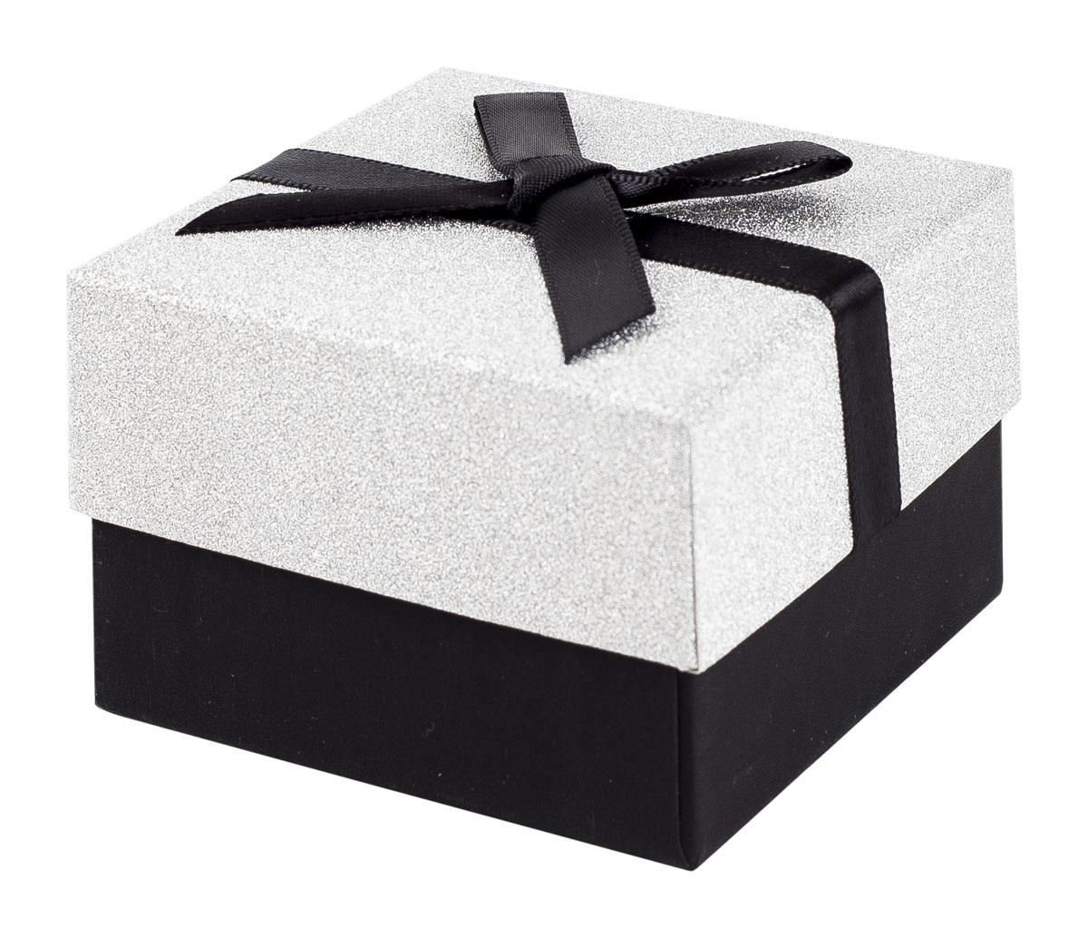 black and silver glitter gift box with black ribbon bow. Black Bedroom Furniture Sets. Home Design Ideas