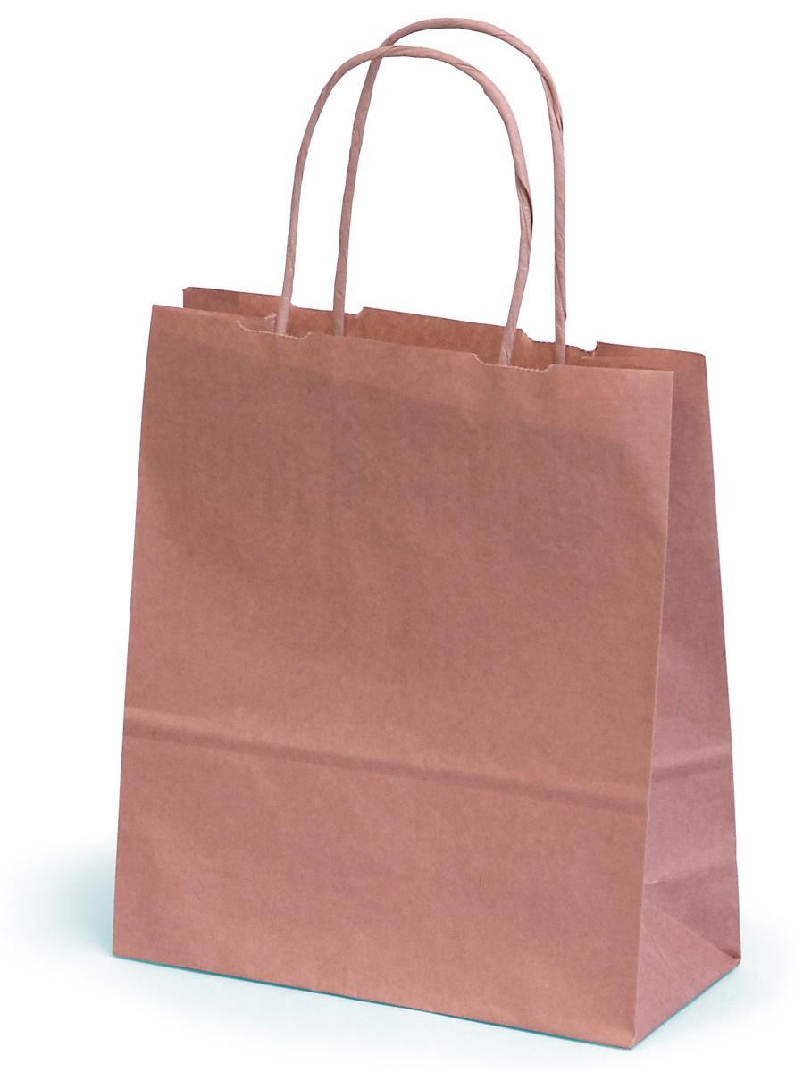 Brown Kraft Paper Carrier Bag With Paper Twisted Handles