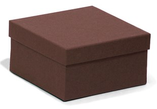 Square Kraft chocolate recycled jewellery box / recyled chocolate gift box 89 x 89 x 51mm (KCCH21)