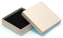 Cream square luxury choker / necklace box 160x160x40mm (MMSQI16)