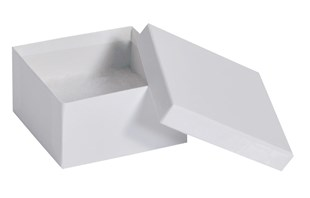 White Gloss deeper square recycled jewellery box 89 x 89 x 51mm (GLW70/21)