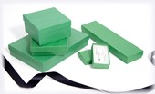 Kraft Dark Green jewellery boxes and small gift boxes