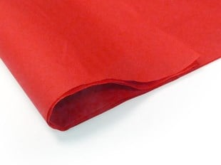 Recycled Red Tissue Paper - 240 sheets (L)