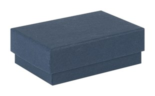 Small Kraft Recycled Navy Blue Jewellery Box 62 x 42 x 21mm (KCNB4)