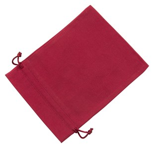 Large Red Cotton Bag With Silk Drawstring