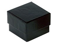 Black embossed recycled ring box / recycled jewellery box 40 x 40 x 31mm (400BL)