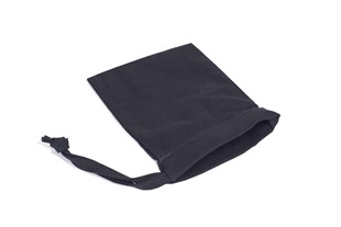 Medium Black Drawstring Bag With One Sided Drawstring 130 x 95mm  - Pack of 10 (TCB1013BL)