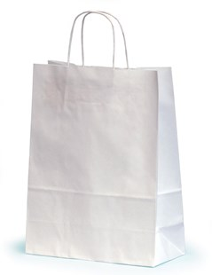 Medium White Paper Gift Bags With Twisted Handles 24 x 11 x 31cm (SWNT024)