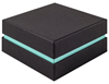 Shoulder Box Collection | Deep Bangle Jewellery Box Black & Turquoise