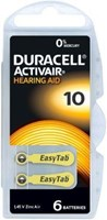 Duracell Activair Mercury Free Hearing Aid Batteries Size 10 (x60 Batteries)