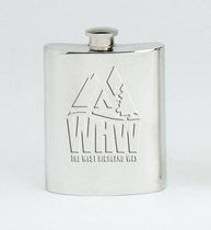 Official West Highland Way Pewter Hip Flask