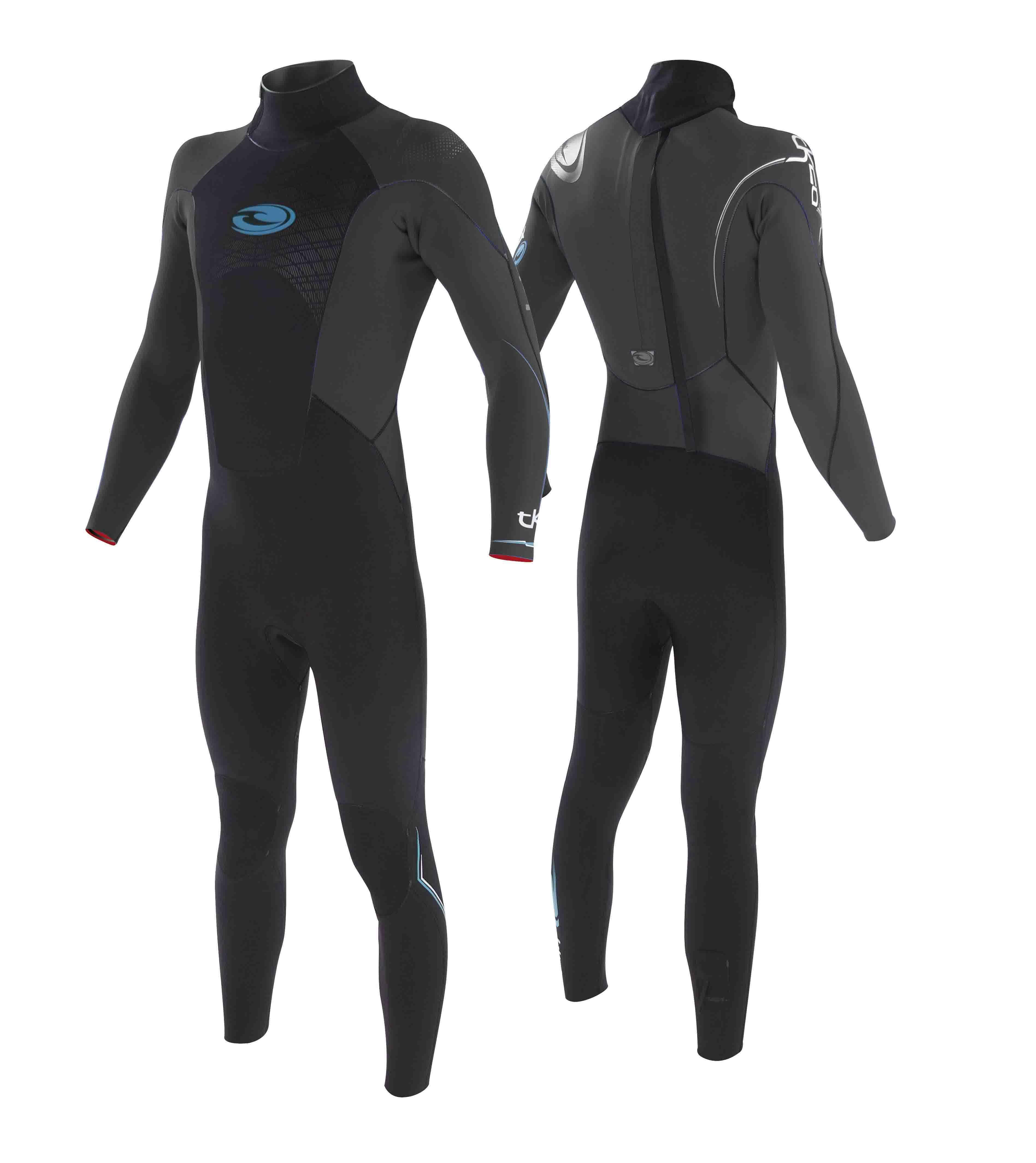 3a1ba91da7 Tiki Wetsuit Tech 20 - 3 2mm GBS Steamer - Grey  Blue