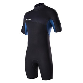 ATTICA WETSUITS DELTA 2/2mm SPRINGSUIT - Black/Iodine Blue - Summer 2016/17 Range