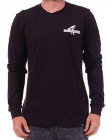 GRAND FLAVOUR Sally Salmon L/S T Shirt - Black