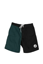 ZION WETSUITS Shred Stretch Boardshorts - Black / Green
